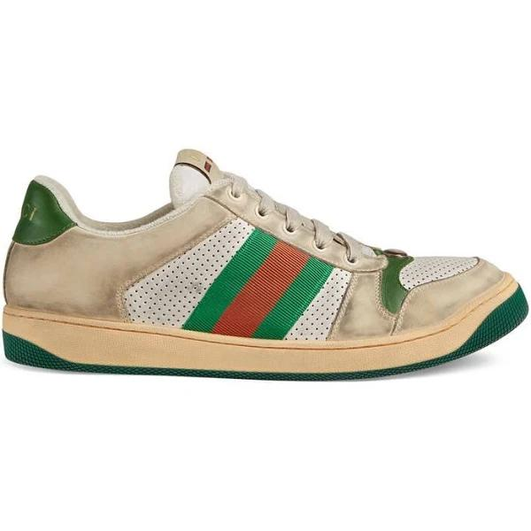 GUCCI Men's Screener Leather Sneaker, Size 6.5