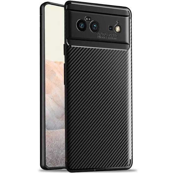 Olixar Carbon Fibre Google Pixel 6 Protective Case - Black