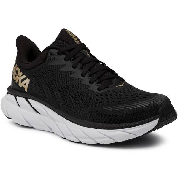Hoka One One W Clifton 7, Svart / Bronze, 12, Hoka Clifton Neutrala löparskor