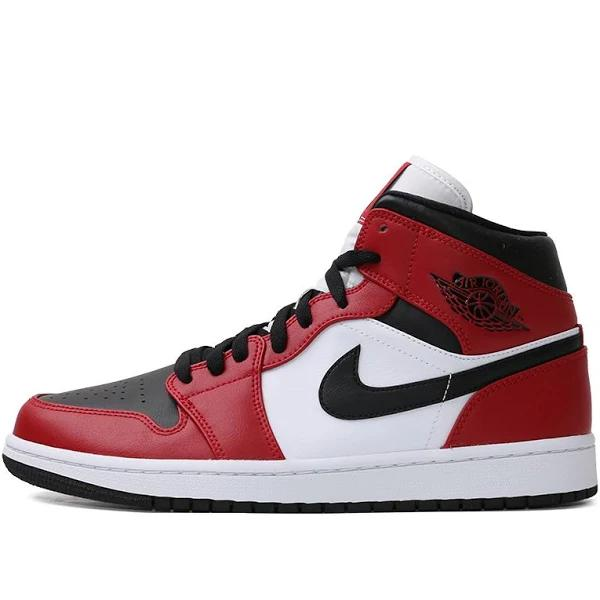 Nike Air Jordan 1 Mid Chicago Black Toe Basketball Shoes/Sneakers 554724-069 (Size: US 7)