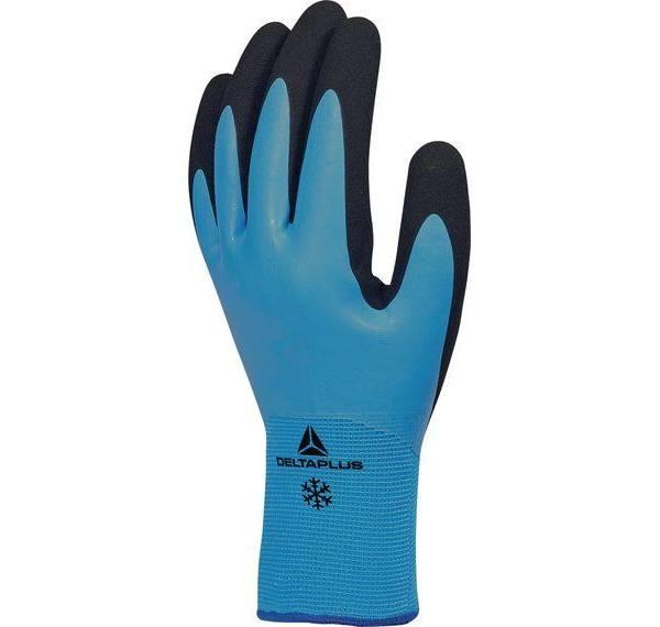 Delta Plus Vv736Bl09 Vattentäta, värmeisolerade handskar med latexbeläggning från Elfa Distrelec