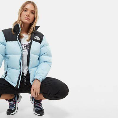 The North Face Women's 1996 Retro Nuptse Jacket Angel Falls Blue - Size: XL