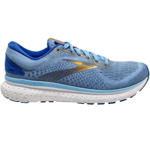 Brooks Glycerin 18 Shoes Blue Gold Women 36.5