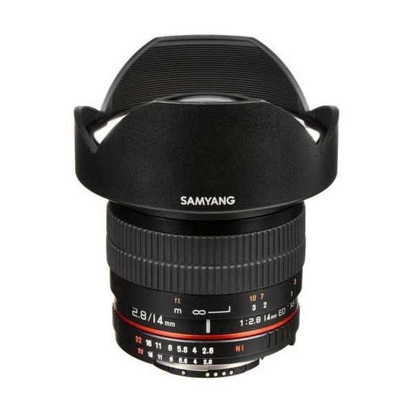 Samyang 14mm f/2.8 ED AS IF UMC Lens for Nikon F, Full Frame Lenses, Prime, Wide Focus Manual Only, f/2.8 or Faster,
