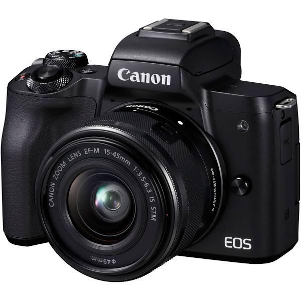 Canon EOS M50 Mark II + 15-45mm IS STM + 55-200mm IS STM, svart