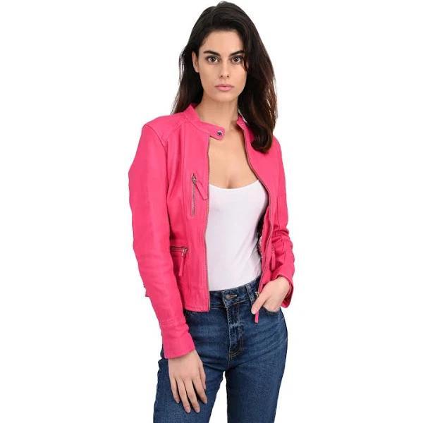 Oakwood Jackor Dam Jackets Straight Zip Sheepskin Jacket Each Läder Size XLarge Rosa