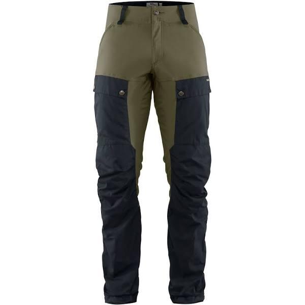 Fjallraven Keb Trousers Long Colorblock-Blue-Olive, Mens G-1000 Full-length Trousers (Size 50 - Color Dark Navy - Light Olive)