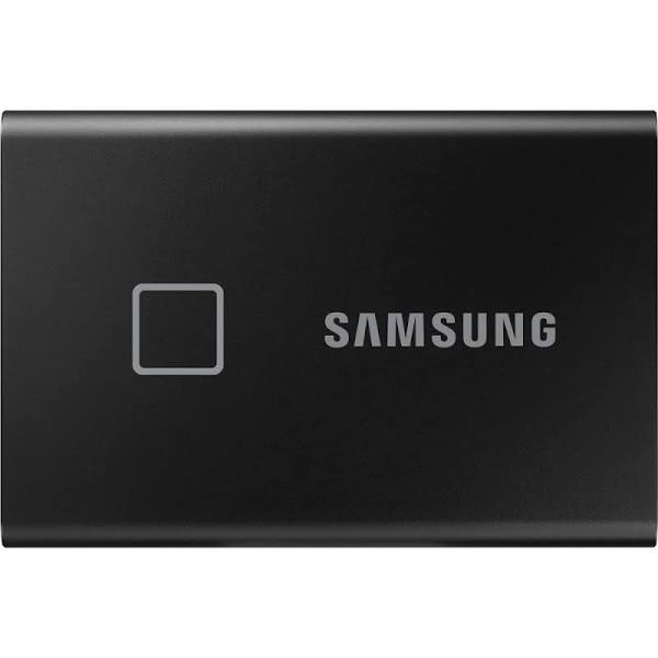 SAMSUNG T7 Touch Black 500GB Portable SSD with Fingerprint ID