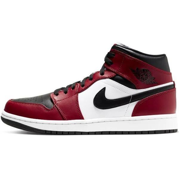 Nike Air Jordan 1 Mid Chicago Black Toe Vit,Svarta,Röda 41