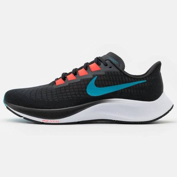 Nike Performance AIR ZOOM Pegasus 37 Neutrala löparskor off noir/light blue fury/bright crimson, gender.adult.male, Storlek: 49.5, Svart