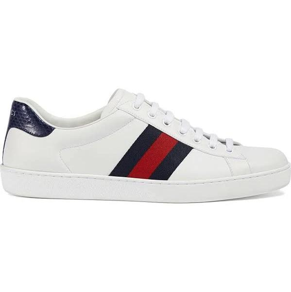 Gucci - Ace leather low-top sneaker - men - Leather/Leather/Rubber - 7,5 - White