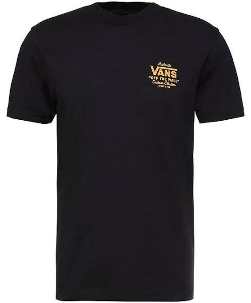 Vans Holder Street Tshirt med print black/old gold, gender.adult.male, Storlek: XL, Svart