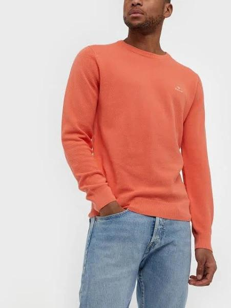 Gant Cotton Pique C-Neck Tröjor Coral