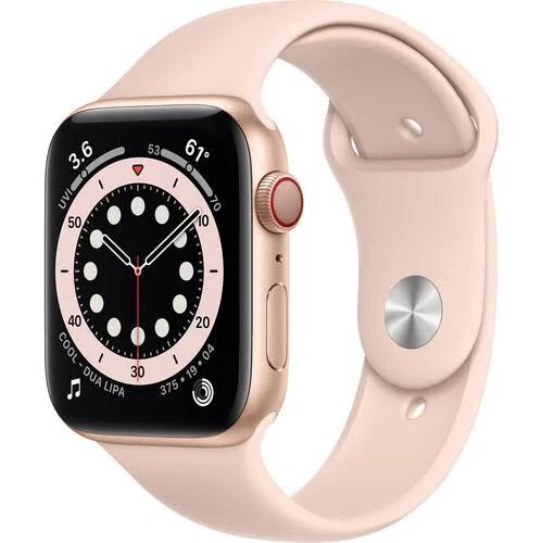 Apple Watch Series 6 GPS - 40mm Gold Aluminum Case with Pink Sand...