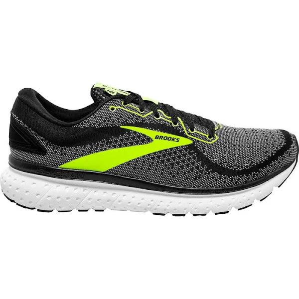 Brooks - Glycerin 18 Running Shoes Men Black White Nightlife