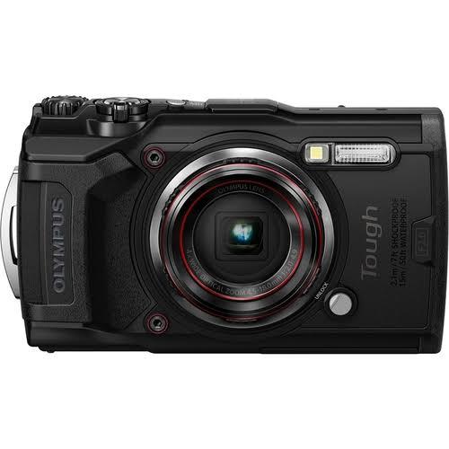 Olympus - Tough Tg-6 120-Megapixel Water-Resistant Digital Camera - Black - TG6BLACK - 050332192430