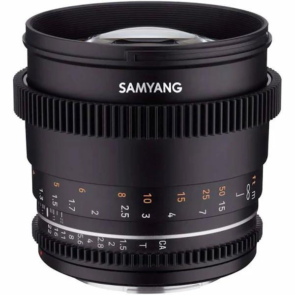 Samyang 85mm T1.5 VDSLR II, Canon EF