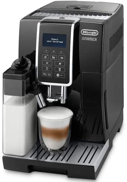 DeLonghi DINAMICA ECAM 350.55.B - Automatisk kaffekokare med cappuccinatore - 15 bar - 14 koppar - svart