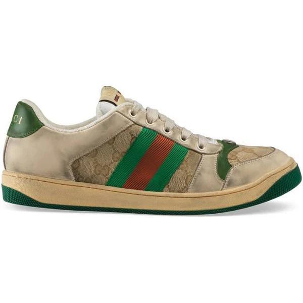 Gucci | Men Screener Gg Original Sneakers Beige/green 5