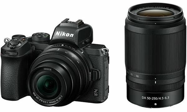 Nikon Z 50 + Z DX 16-50mm VR + Z DX 50-250mm VR systemkamera