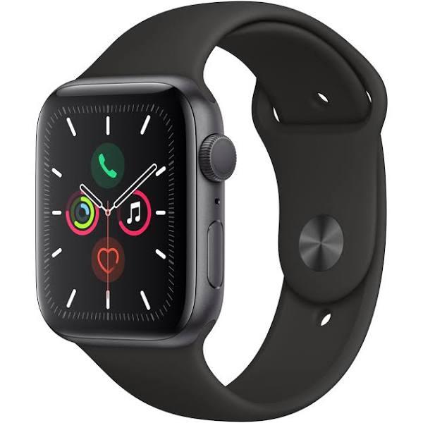Apple Watch Series 5 (GPS) 44 mm Space Grey/Svart