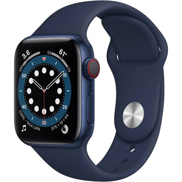 Apple Watch Series 6 GPS - 40mm Blue Aluminum Case with Navy Sport Band - MG143