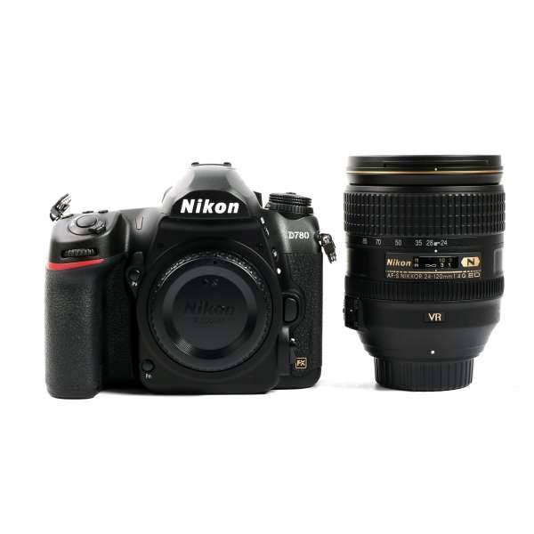 Nikon D780 DSLR Camera with 24-120mm Lens, Kits, Full Frame 35mm, Megapixels, 4K, 100% Optical Viewfinder Mic Input Swivel/Tilt LCD