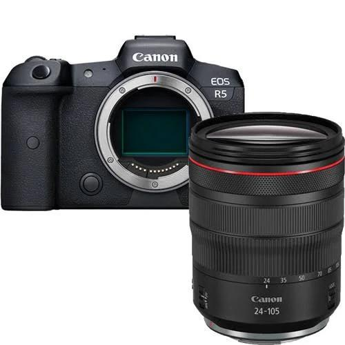 Canon EOS R5 body + RF 24-105MM F/4L IS USM