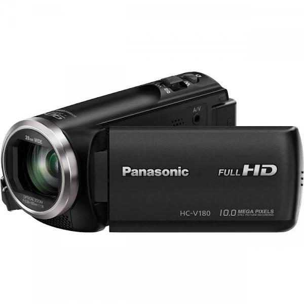 Panasonic HC-V180 - Videokamera - 1 080 p / 50 fps - 2.51 MP - 50x optisk zoom - flashkort - svart