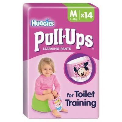 Huggies Pull Ups Toilet Training Learning Pants Medium 14 st