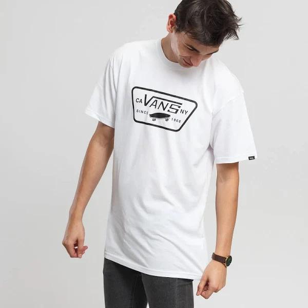 Short Sleeve T-Shirts Vans Full Patch white