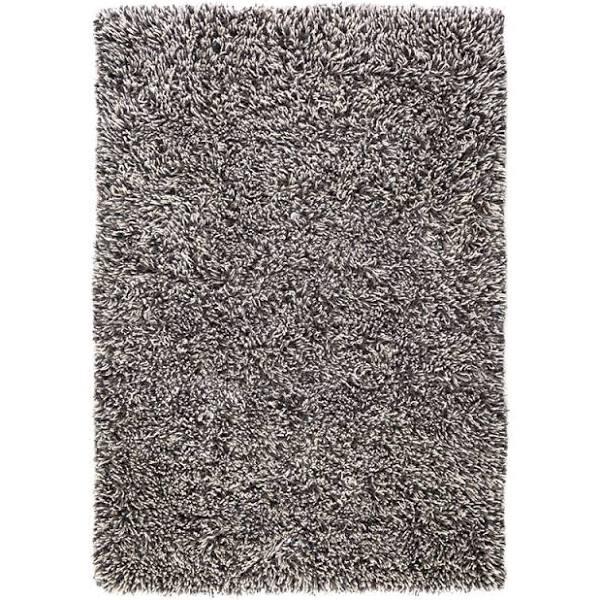 Shaggy matta - white/charcoal, 170x240 cm By Svenssons