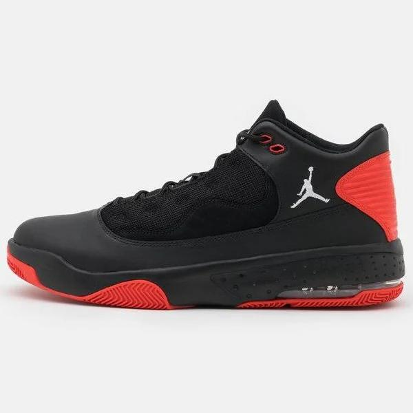 Jordan MAX AURA 2 Höga sneakers black/white/chile red, gender.adult.male, Storlek: 49.5, Svart - Skinn och textil
