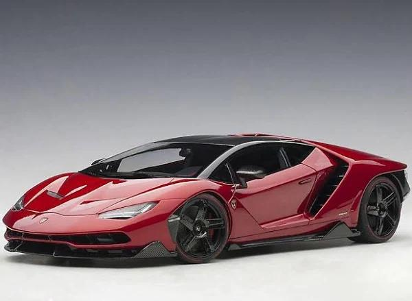 AUTOart Lamborghini Centenario LP770-4 sammansatt modell bil Metallic röd 24cm long
