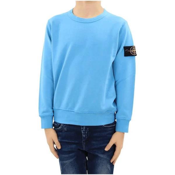 Stone Island Sweat-Shirt , Blå, Herr, barn , Storlek: 8y