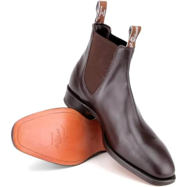 R.M. Williams Classic RM Leather Chelsea Boots Chestnut 10