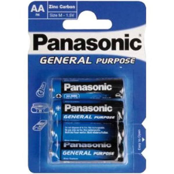 Panasonic Batteri (blå) Allmän R6 Mignon Aa (4 St.)