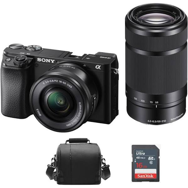 Sony A6100 + 16-50 + 55-210 OSS
