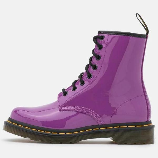 Dr. Martens 1460 Snörstövletter bright purple, gender.adult.female, Storlek: 43, Syrenlila - Skinn
