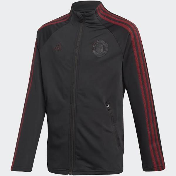 Adidas Manchester United Anthem Jacket - Barn - Svart