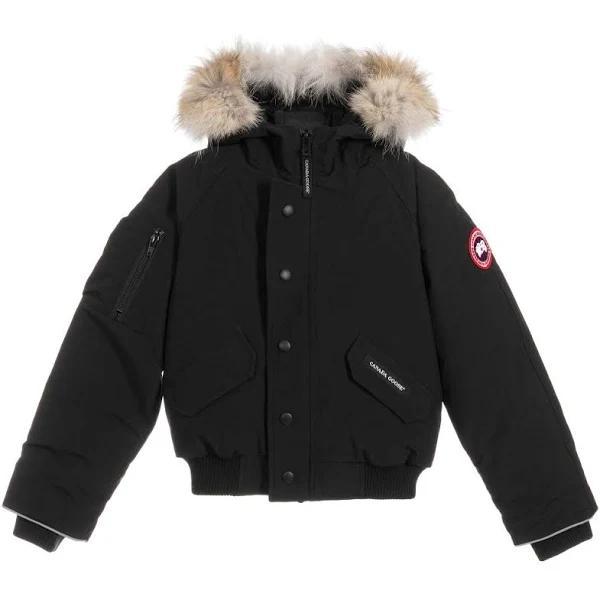 CANADA GOOSE Black Down Fill Bomber Jacket