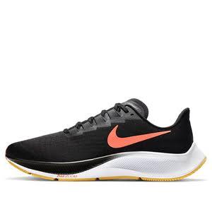 Nike Air Zoom Pegasus 37 'Black Bright Mango' Black/Anthracite/White/Bright Mango Marathon Running Shoes/Sneakers BQ9646-010 (Size: US 7)
