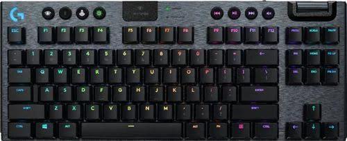 Logitech - G915 Tkl Tenkeyless Lightspeed Wireless Rgb Mechanical Gaming Gl Clicky Switch Keyboard With Back Lighting - Black - 920-009529 -