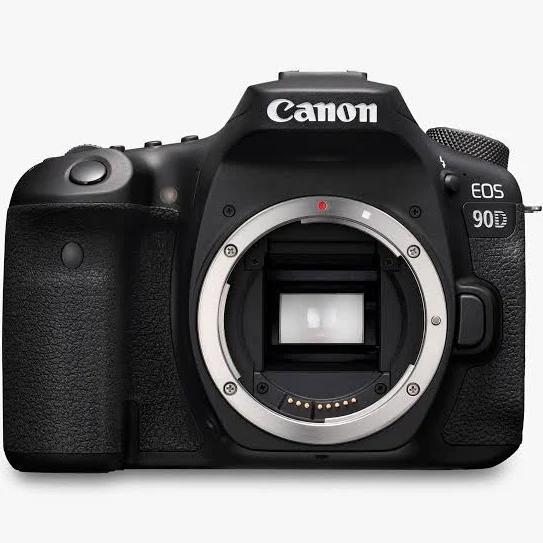 Canon EOS 90D 32.5 MP DSLR Camera - 4K - Black/Black - Body Only