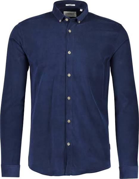 LINDBERGH Skjorta Designer Manchester Shirt L/S Blå - XL - Herr