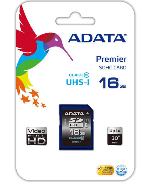ADATA Premier SDHC 16GB UHS-I Class 10 Memory Card