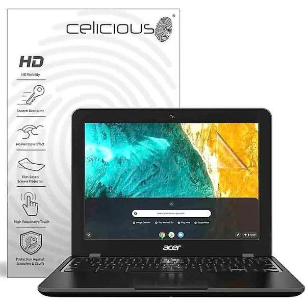 Celicious levande osynlig glansigt HD skärmskydd Film kompatibel med Acer Chromebook 512 (icke-Touch) [Pack 2] Acer Chromebook 512 (Non-Touch)