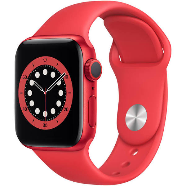APPLE - Watch Series 6 44mm PRODUCT(RED) Watch Series 6 GPS, 44mm PRODUCT(RED) Aluminium Case med PRODUCT(RED) Sport Band