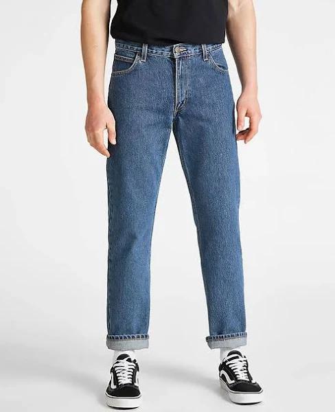 Lee Brooklyn Straight Regular Jeans (Darkstone, W32 / L34)