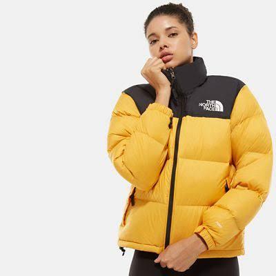 The North Face Women's 1996 Retro Nuptse Jacket Yellow - Size: M